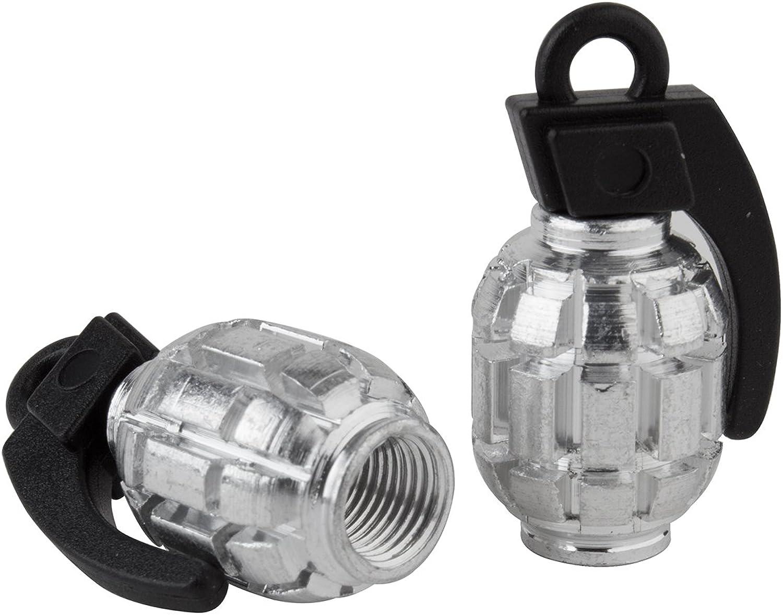 Black Ops Valve Caps Grenade SV Silver