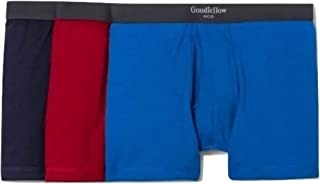 Goodfellow & Co Men's Premium Knit 3 Pack Boxer Briefs (Red/Navy/Blue, Small)