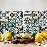54 (Piezas) Adhesivo para Azulejos 10x10 cm - PS00116 - Málaga - Adhesivo Decorativo para Azulejos para baño y Cocina - Stickers Azulejos - Collage de Azulejos