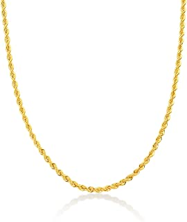Gelin Rope Chain Necklace in 14k Solid Gold, Birthday Gifts Jewelry for Women