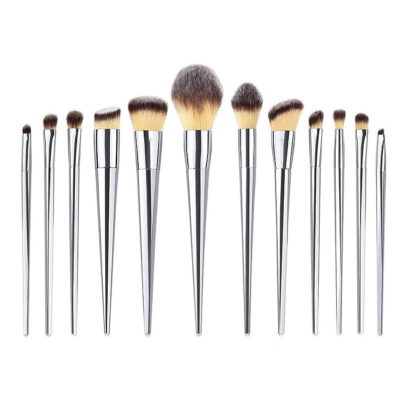 提案する佐賀ようこそAkane 12本 GUJHUI 綺麗 魅力的 上等 エレガント シルバー 美感 高級 多機能 便利 おしゃれ 柔らかい たっぷり 激安 日常 仕事 Makeup Brush メイクアップブラシ TM-009