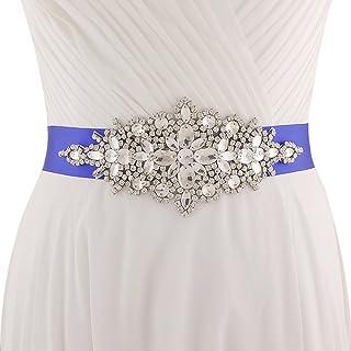 Azaleas Women's Crystal Bridal Sash Belt Wedding Belt Sashes bridal jewelry belt