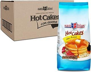 San Blas Harina Preparada Para Hot Cakes con Avena, 10 Paquetes de 1 Kg