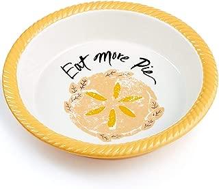 Martha Stewart Collection Stoneware Plate Eat More Pie Baking Dish