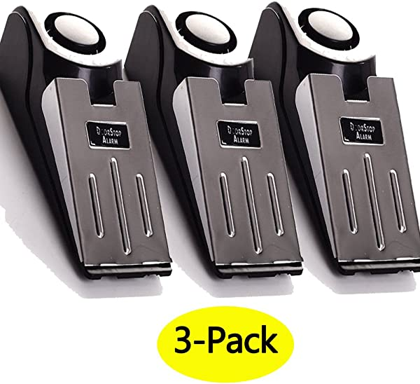 3 Pack Upgraded Door Stop Alarm Great For Traveling Security Door Stopper Doorstop Safety Tools For Home Set Of 3