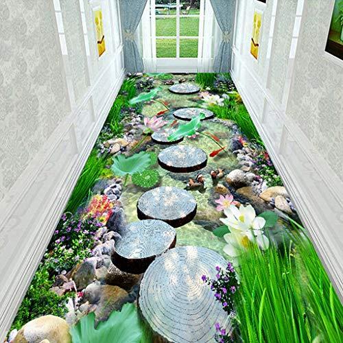 H.L Runner tapijt, drie stijlen 3D, geschikt voor hotels, trappen, open haarden, lengte