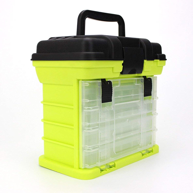 4層大型多機能釣りプラスチックボックスポータブルコンパートメントキット収納ケース釣りタックルボックス