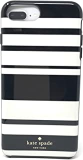 kate spade New York Black/White Fairmont Stripes Protective Rubber Case For iPhone 8 Plus/iPhone 7 Plus/iPhone 6 Plus