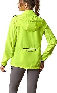 Women's Packable Windbreaker Jacket Resistant Convertible Cycling Running Jacket Lightweight Windproof Water