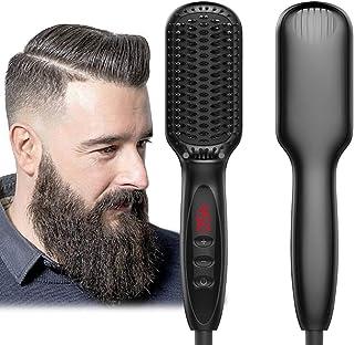 Beard Straightener for Men Ionic Beard Straightener Comb 2019 New Design Electrical Heated Hair Straightening Brush with F...