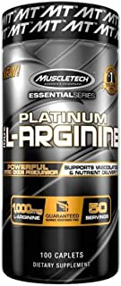 MuscleTech Essential Series 100%, L-Arginine, 100 Count