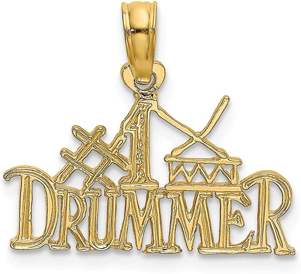Jewels By Lux 14K Yellow Drummer Free Shipping Cheap Bargain Gift Now free shipping Pendant Gold #1