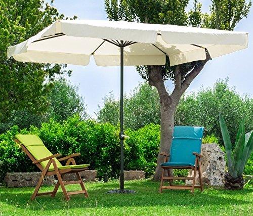 Sombrilla Cuadrado 3x 3de Aluminio Negro Lienzo Crudo de jardín terraza Bar Camping con Tratamiento anticorrosión