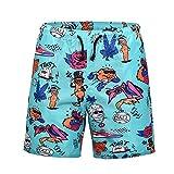 WHLDK Slips De Bain 2018 Grande Taille Créative À Séchage Rapide Confortable Lâche Men's Beach Shorts Green XXL
