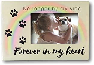 BANBERRY DESIGNS Pet Memorial Frame - No Longer by My Side Forever in My Heart - 4