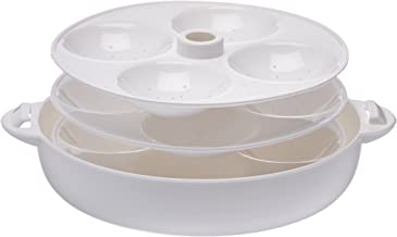 Milton Microwave Idli Maker and Steamer, Makes 12 Idlis, White
