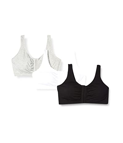 Fruit Of The Loom Front Close Builtup Sports Bra 3-pack (One Set of Pads)