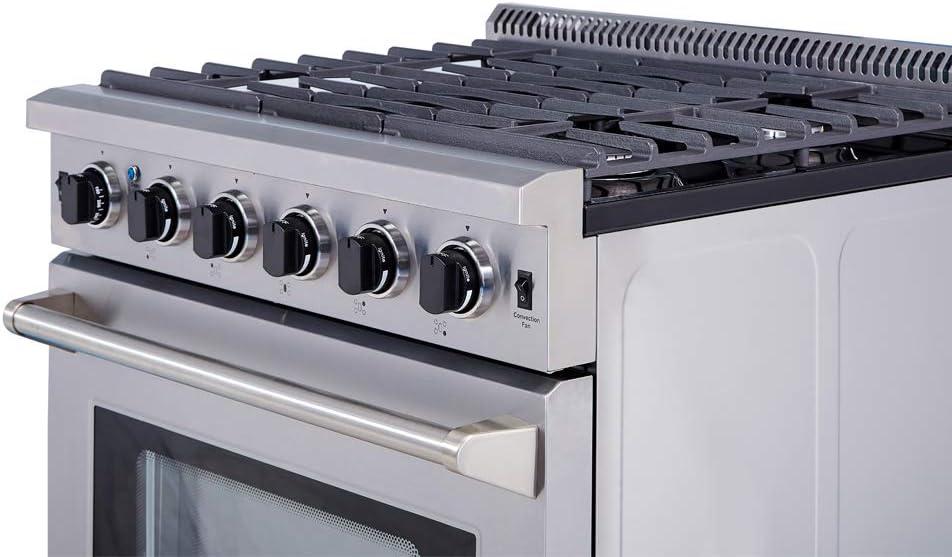 Amazon Com Thor Kitchen 30 Stainless Steel Gas Range Oven With 5 Burner Lrg3001u Appliances