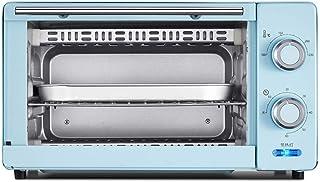 QYJH - Mini Horno - Horno de Mesa - 11L - 1000W - 60 Minutos de Tiempo - Parrilla Doble - Incluye Bandeja de escoria separada: 8 alitas de Pollo, Pastel de Gasa de 8 Pulgadas