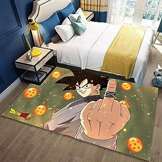 Dragon Ball ドラゴンボール 地毯 动漫 可爱 垫子 珊瑚绒 亲肤 120厘米*160厘米 四季通用 绒毯 可洗 防螨 抗菌防臭 不褪色 长毛绒地毯 吸水性 隔音 防滑-A_60x90cm
