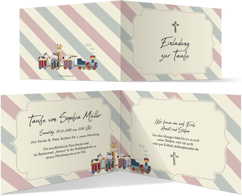 40 x Taufeinladungen Taufkarten Einladungskarten Taufe Einladung - Lokomotivtiere B07BHMGKJR    eine große Vielfalt