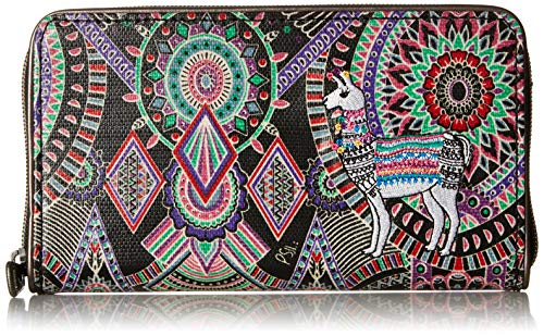 Sakroots Unisex-adults Artist Circle Large Zip Around Wallet, onyx wanderlust