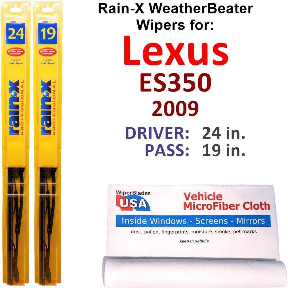 Rain-X Nippon regular agency WeatherBeater Popular product Wiper Blades for Lexus Rain- Set 2009 ES350