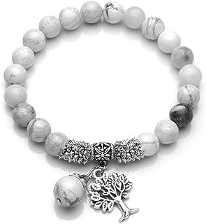 Hommes Femmes pierre naturelle Extensible De Noël Charm Chance Bracelets Bijoux 6 mm 8 mm 10 mm
