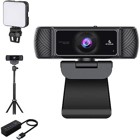 1080P Webcam Kits, NexiGo FHD USB Web Camera with Privacy Cover, Extendable Tripod Stand, Video Conference Lighting, USB 3.0 Hub, for Zoom/Skype/Teams Online Teaching, Laptop MAC PC Desktop