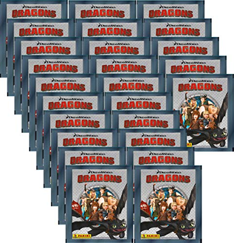 Dragons Die Chroniken Panini Sammel-Sticker - 25 Booster - 125 Sticker