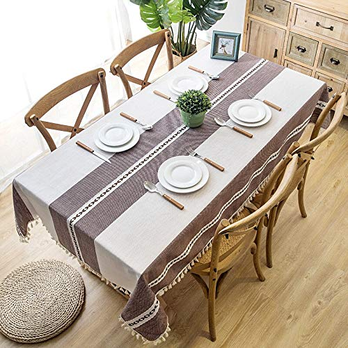 XXDD New checkered decorative table cloth and tassel waterproof rectangular table cloth table cloth coffee table cloth A2 140x160cm