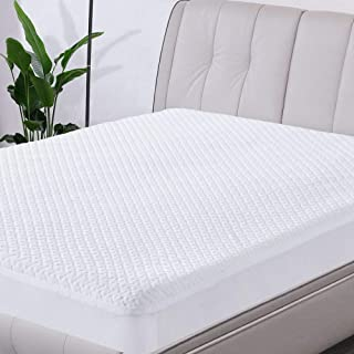 NexHome Waterproof Mattress Protector 3D Air Fabric Mattress Cover with 15 Inches Deep Pocket Stretches Up to 18 Inches Breathable White Mattress Cover (White, Queen)
