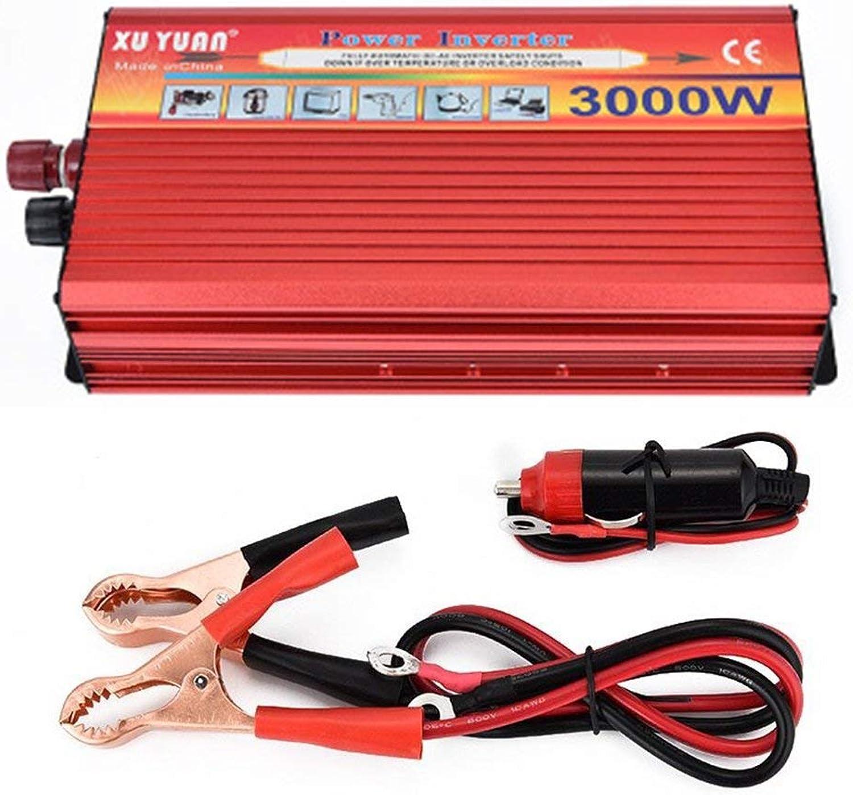 3000W Solar Car Power Ingreener Portable Power Congreener for Home Car red