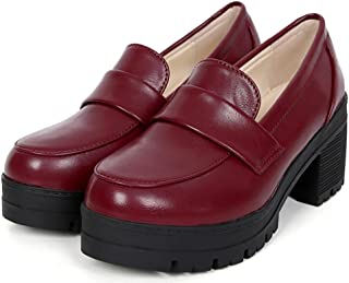 ACE SHOCK Oxford Shoes for Women, Student Uniform Dress Shoes Waiter Work Cosplay Use 3 Colors Size 5.5-7.5