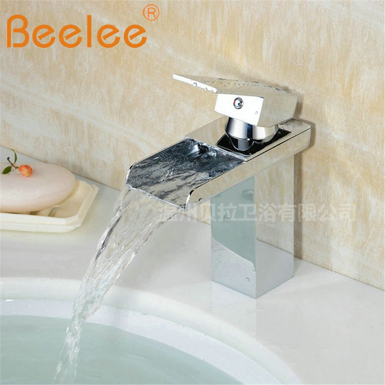 ETERNAL QUALITY Bathroom Sink Basin Tap Brass Mixer Tap Washroom Mixer Faucet Basin waterfall faucet hot and cold full copper single hole retro faucet sink Faucet Kitchen
