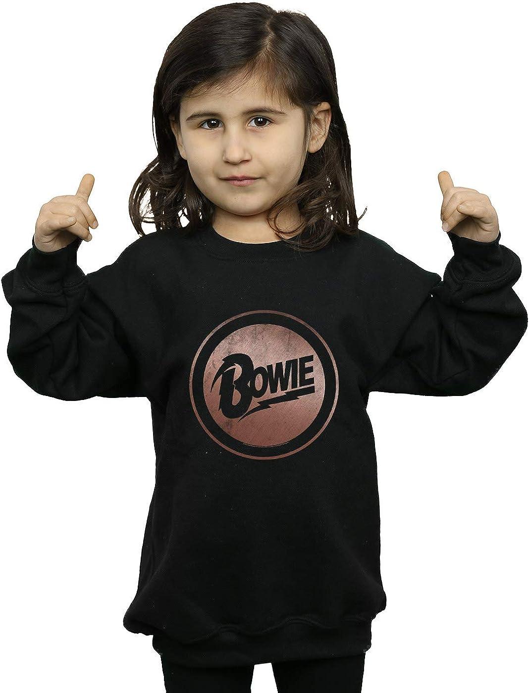 ABSOLUTECULT David Bowie Girls Rose Gold Circle Sweatshirt