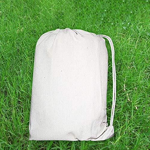 D.ragon 200 150 cm weiße Leinwand-Hängematte, einfarbige DIY-Hängematte, Einzel-Doppel-Hängematte im Freien, Einzel-Doppel-Hängematte Geeignet für Reisen, Camping, Hof usw.
