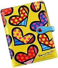 Romero Britto Passport Hearts (Yellow Background)