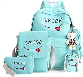 5 قطع/مجموعة من حقائب المدرسة للمراهقات البنات والأطفال حقيبة مدرسية كبيرة السعة حقيبة ظهر مدرسية حقيبة أطفال حقيبة سفر