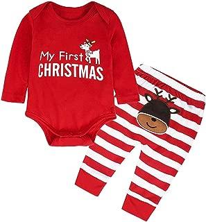 Kids Pajamas Set,Girls Boys PJS Set Long Sleeve Romper with Pants Set