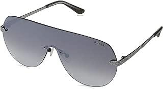Guess Women's GU7561 GU7561 02C Shield Sunglasses, Silver, 0 mm