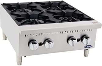 Four Burner Hot Plate Commercial Countertop Natural Gas Range CookRite ATHP-24-4 HD 24