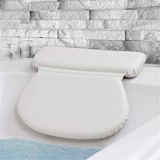 KUNXIAOY Waterproof Bath Pillow,with Non-Slip Suction Cups, Bathtub Pillow for Neck and Shoulder, Jacuzzi Pillows for Hot Tub and Spa