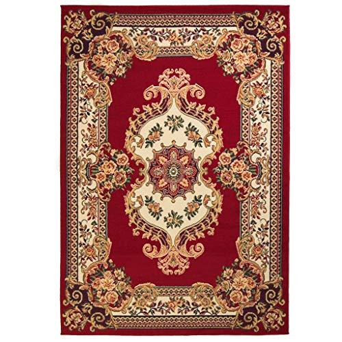 Tidyard Orientteppich Persien-Design Teppich Vintage Türmatte Schlafzimmerteppich Badteppich für Wohnzimmer Schlafzimmer Pflegeleicht