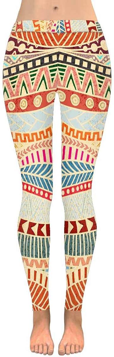 Tribal Aztec Custom Stretchy Capri Leggings Skinny Pants for Yog