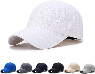 メッシュキャップ, 通気性抜群 日除け UVカット 紫外線対策スポーツ帽子,男女兼用 速乾 軽薄 日よけ野球帽,登山 釣り ゴルフ 運転 アウトドアなどにメッシュ帽