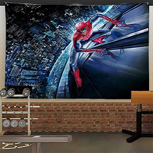 Spider-Man-Wandteppich, amerikanischer Superhelden-Wandbehang, Heimdekoration für Kinder/Kinderzimmer, 230 x 150 cm (B x L)