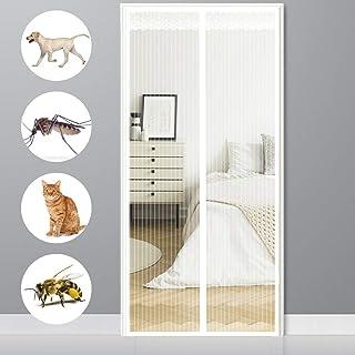 LinZX Pantalla de Inicio Popular de la Noche 4 Esquinas adecuados para el Matrimonio Solo o Mosquitos para el hogar o de Vacaciones-White