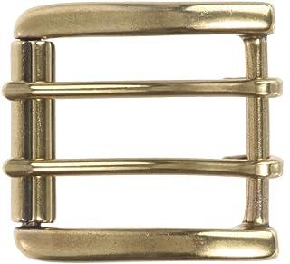 BBBelts Men 1-3//8 Black Solid Leather Antique Brass Wide Prong Buckle Belt