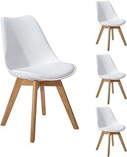 DORAFAIR Pack 4 sillas escandinava Estilo nórdico Silla de